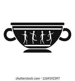 Greek ancient bowl icon. Simple illustration of greek ancient bowl icon for web design isolated on white background