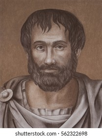 The Greek philosopher Aristotle portrait