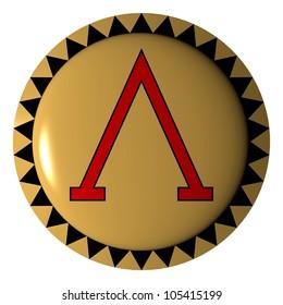 Greek shield/spartan/3d  illustration