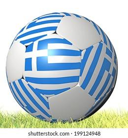 greek soccer ball - flag - grass c21fd835d1