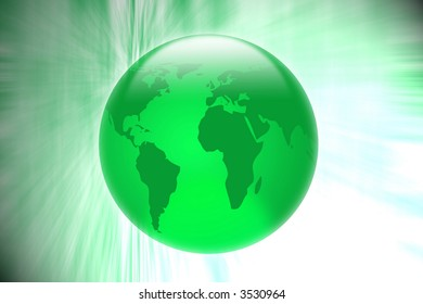 Green 3d globe abstract
