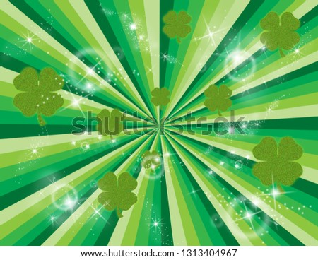 Green abstract burst of