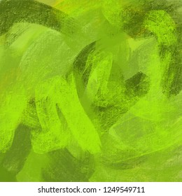 Green abstract painting background for any design