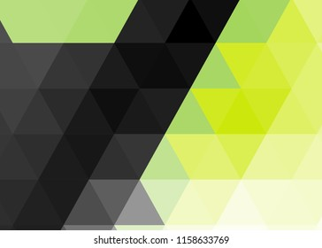 Green Abstract Template For Card Or Banner Metal Background With Waves And Reflections Business