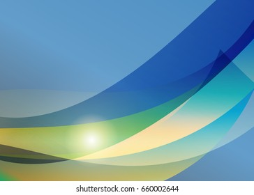 Green abstract template for card or banner. Abstract background
