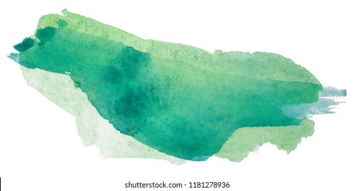 green abstract watercolor texture, hand drawn painting,
