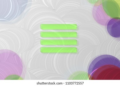 Green Align Text to Justify Icon on the White Painted Oil Background. 3D Illustration of Green Align, Alignment, Center, Hamburger, Justify, Menu, Text Icon Set on the White Background.