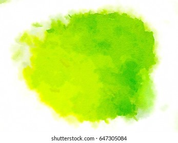 Green art background. Digital painting. Colorful texture. Modern art. Contemporary art. Colorful canvas. The abstract watercolor for any design template