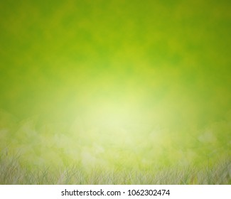 Green backgroud with grass and blur backdrop