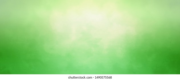 Green background with soft bokeh blur and bright yellow sun spot in elegant fresh and clean banner design