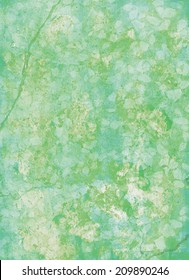 Green background watercolour texture with natural patterns