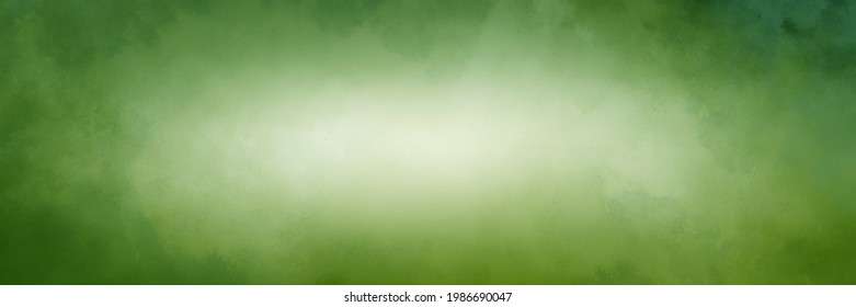 Green background with white center, old watercolor grunge texture on borders, elegant Christmas paper
