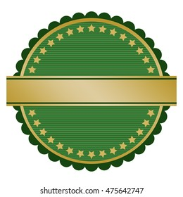 Green blank seal with place for text