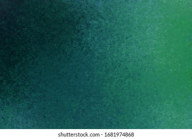 Green blue black background with blur, gradient and watercolor texture. Grunge texture. Space for graphics and text. Background paper texture for vintage design.