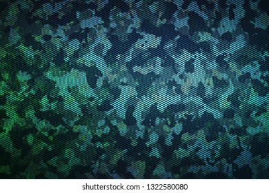 green and blue camouflage pattern blackground and texture. Carbon fiber. Illustration.