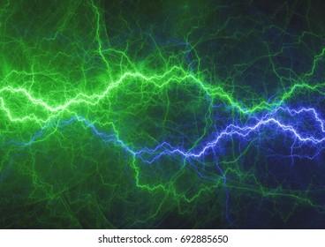 Green and blue energy, lightning plasma background