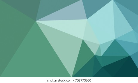 Green, Blue Low Polygon Art Abstract Background