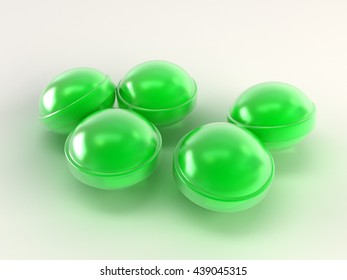 green bright candies