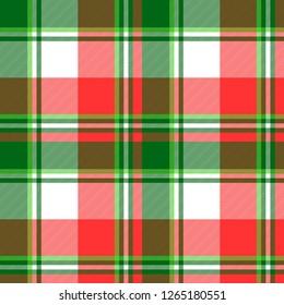 Green bright madras plaid seamless fabric texture