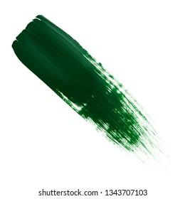 green brush stroke.