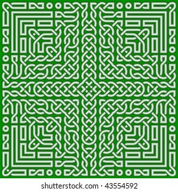 Green Celtic knot for St. Patrick's day 1