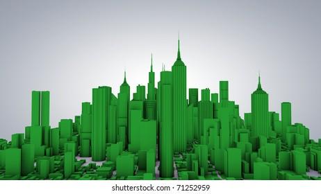 Green city 3d