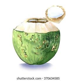 Green coconut, water drink
