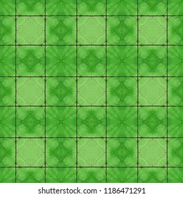 Green complex symmetrical seamless organic pattern