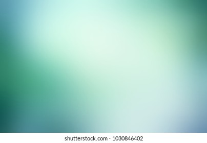 Green cool empty background. Neutral abstract texture. Simple blurred illustration. Emerald glow defocused pattern.