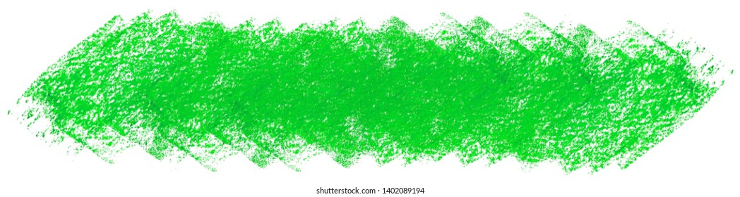 Green crayon scribble texture. Wax pastel spot. Abstract crayon on white background. It is a hand drawn ( Green abstract crayon background )
