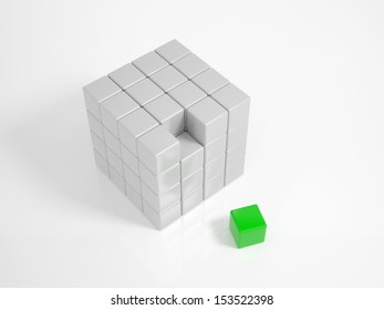 Green Cube is the missing piece of a puzzle