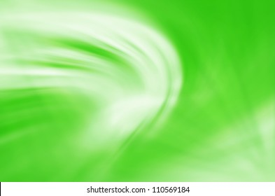 green curves abstract background.