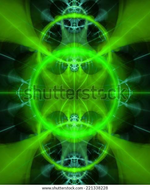 Green Cyan Abstract Fractal Wallpaper High Stock