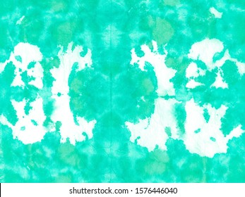 Green Cyan Abstract Watercolor .Tie Dye Painting Art. Abstract Dyed Texture. Mint Art Splashes Template. Colorful Tie Dye Textures Wash. Trendy Watercolour Print.