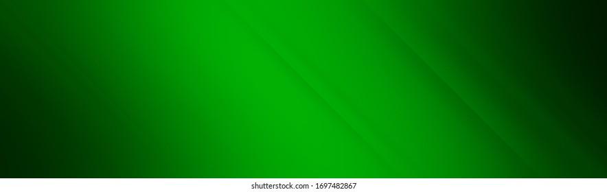 Green dark background for wide banner, design template - digital illustration
