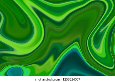 Green digital abstract creative background from curved lines. Illustration