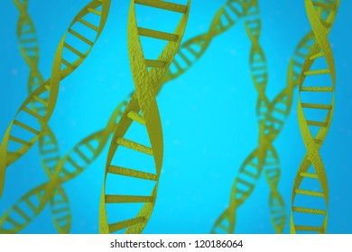 Green DNA helices with shallow depth of field