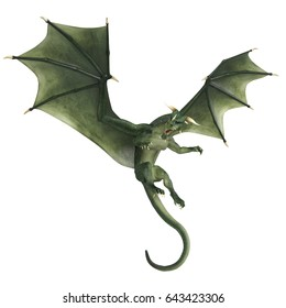 green dragon 3d illustration