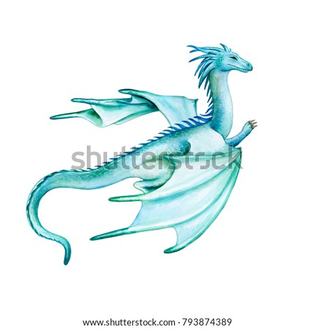 green dragon wings isolated on white stock illustration 793874389
