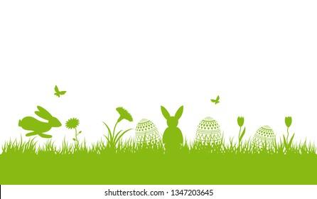 Green easter background.Holyday background.Easter card design.Easter banner design.