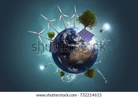 Green Energy (3D Rendering)