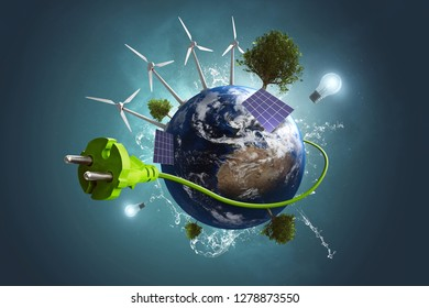 Green Energy World (3D Rendering)