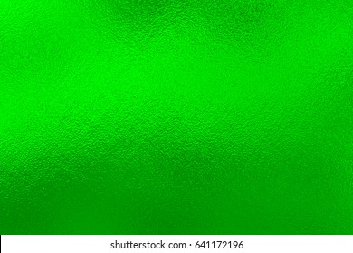 Green foil metal texture background