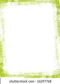 Green frame with grunge edges