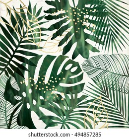 Nature Leaf Printable Images Stock Photos Vectors Shutterstock Jungle tree nature summer background. https www shutterstock com image illustration green gold tropical leaves printable wall 494857285