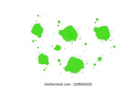 Green goo sludge Halloween themed wet paint slime splatter design.
