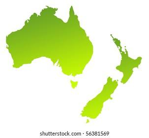 Map Of Australia Nz.Australia New Zealand Images Stock Photos Vectors Shutterstock