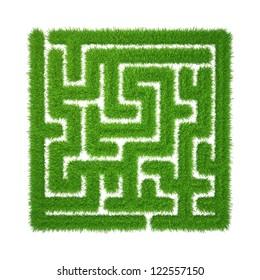green grass maze