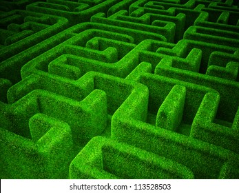 Maze Garden Images, Stock Photos & Vectors   Shutterstock