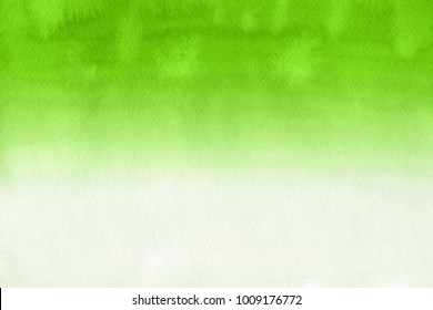 Green with gray and white realistic watercolor texture on paper background.